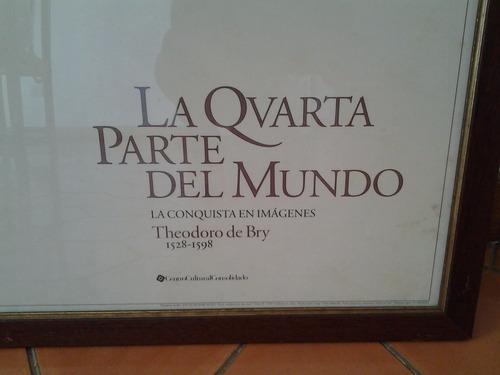 afiche la qvarta parte del mundo de theodoro de bry