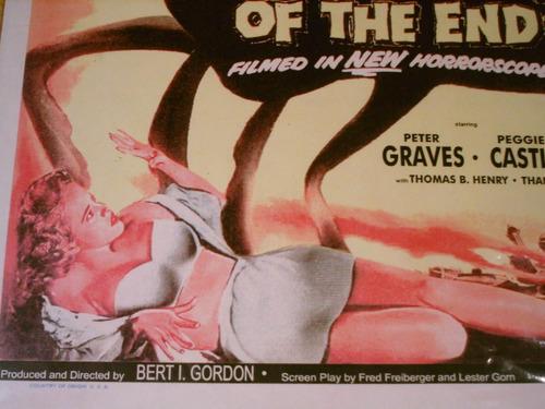 afiche lobby cine beginning of the end ciencia ficcion 1957