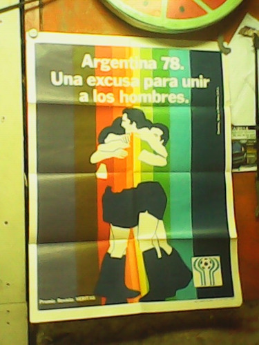 afiche mundial 78 único .raúl afiches