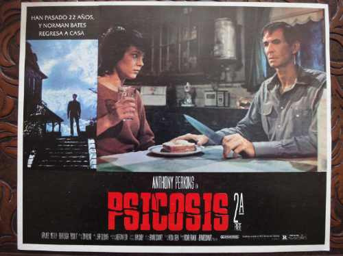 afiche ori mexicano psicosis 2 psycho 2 anthony perkins 1983