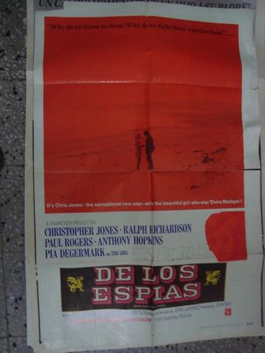 afiche orig cine de los espías. jones richardson 110x75