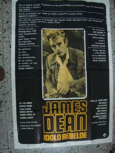 afiche orig cine pelicula james dean idolo rebelde 110x75