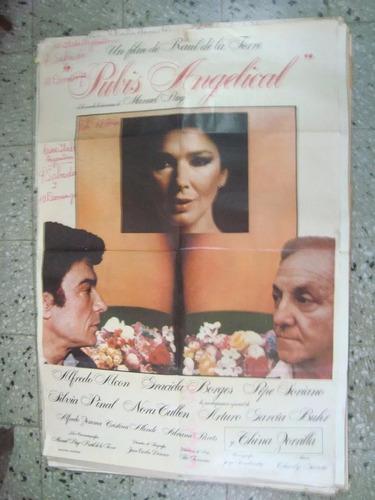 afiche orig cine pubis angelical gra borges alcón soriano