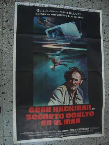 afiche orig cine secreto oculto en el mar hackman 110x75