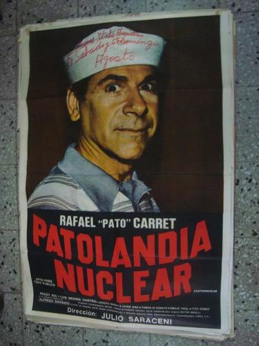 afiche orig cine subí patolandia nuclear carret 110x75
