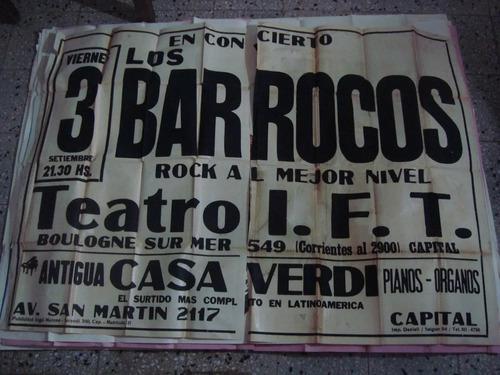 afiche orig d calle los barrocos rock en concierto 145x110