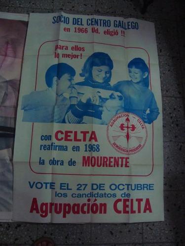 afiche orig de calle agrupación celta mourente 110x75