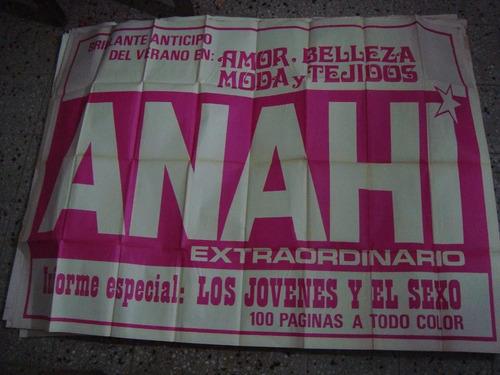 afiche orig de calle revista anahí 145x110