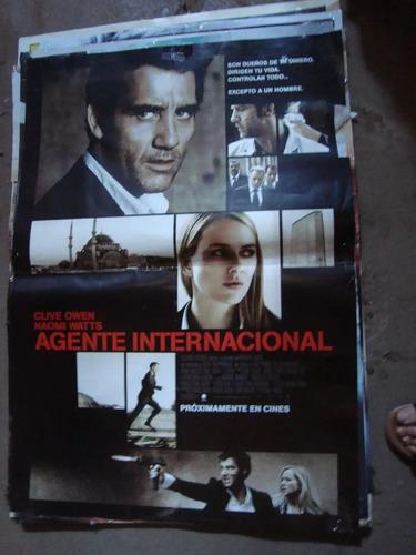 afiche orig de cine agente internacional 1x72