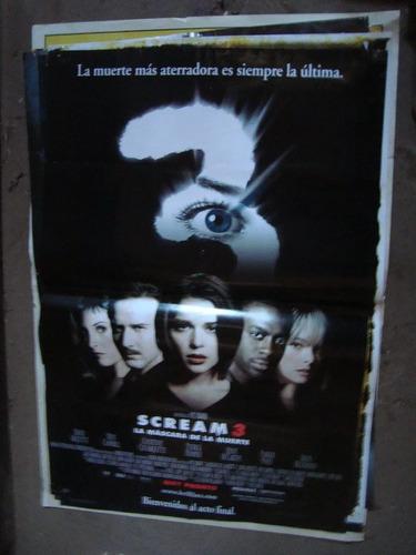afiche orig de cine scream 3 1x72