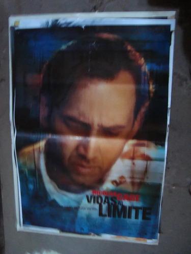 afiche orig de cine vidas al límite 1x72