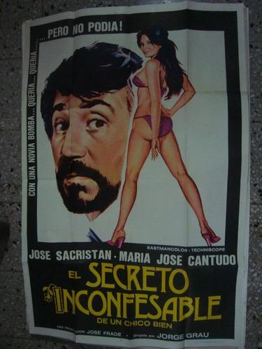 afiche orig pelicula cine el secreto inconfesable sacristan