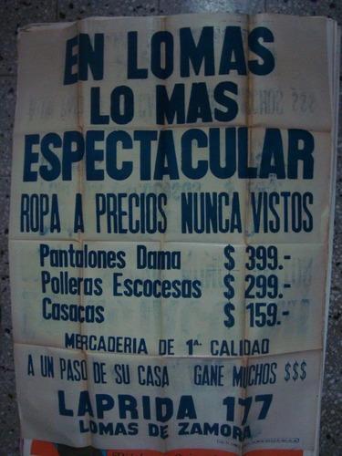 afiche original de calle laprida 177 lomas de zamora 110x75