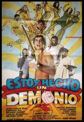 afiche original de la película estoy hecho un demonio