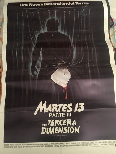 afiche-poster original año 1983 martes 13 parte 3