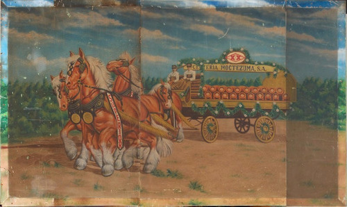 afiche promocional antiguo de cervecería cuauhtémoc