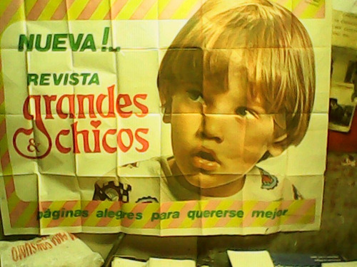 afiche publicidad revista grandes y chicos muy bueno 1970