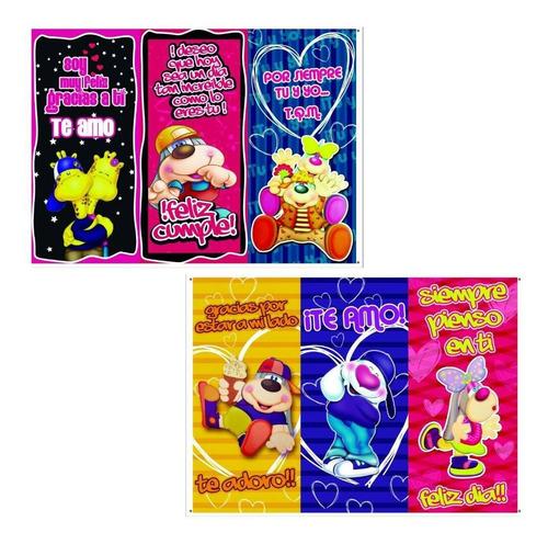 afiches de amor 50cm x 22       12 unid
