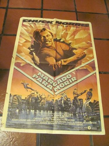 afiches de cine antiguo y original  con  chuck  norris