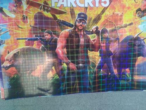 afiches holografiados de videojuegos