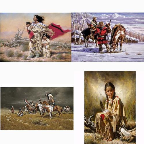 afiches indios americanos p/enmarcar graf. digital 27x42 cm.