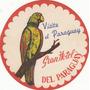 Luggage Antiguo Sticker Gran Hotel Paraguay Guacamayo Raro