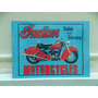 Cartel Chapa Moto Indian 40 X 30 Cn