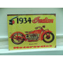 Cartel Chapa Moto Indian 40 X 30 Cns