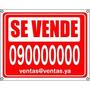 Cartel Se Vende Alquila Inmobiliaria Val Hasta