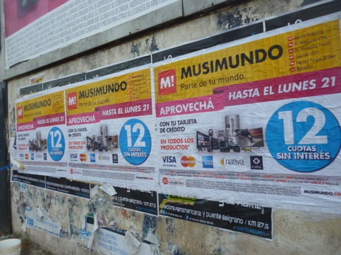 afiches via publica, impresion, fijacion, pegatinas