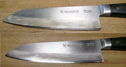 afilado profesional cuchillos. filo simple, doble, tijeras