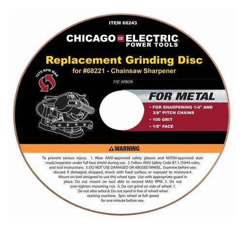 afilador cadena motosierra disco repuesto oxido aluminio