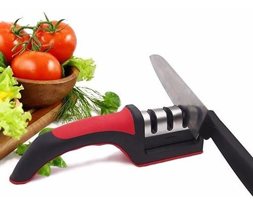 afilador cuchillo ergonomico acero inoxidable sharpener