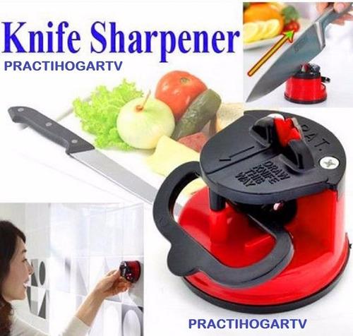 afilador cuchillos profesional doble accion aderible succión