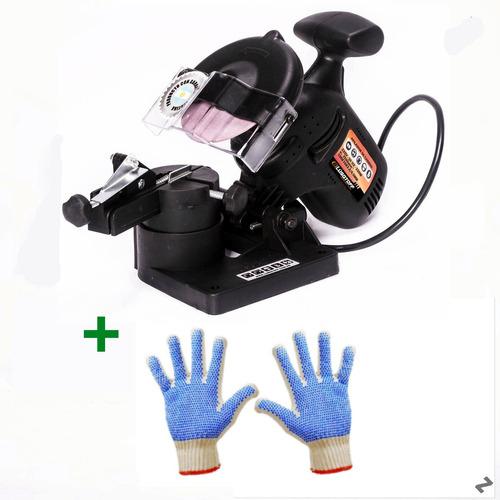 afilador de cadena motosierra lusqtoff 11002-b + guantes