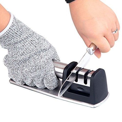 afilador de cuchillos de cocina para cuchillos rectos y dent
