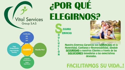 afiliaciones a eps + arl+ afp + ccf
