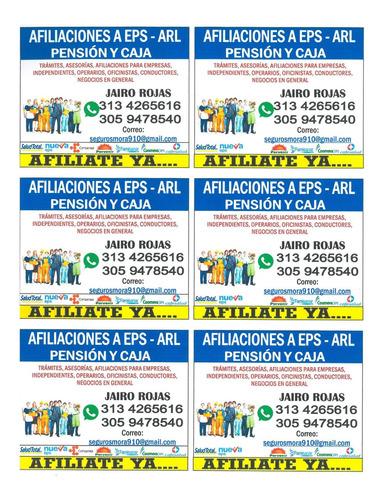 afiliaciones  a eps  arl-tl.3134265616