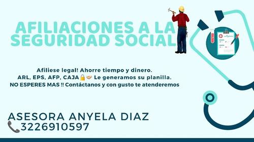 afiliaciones a la seguridad social