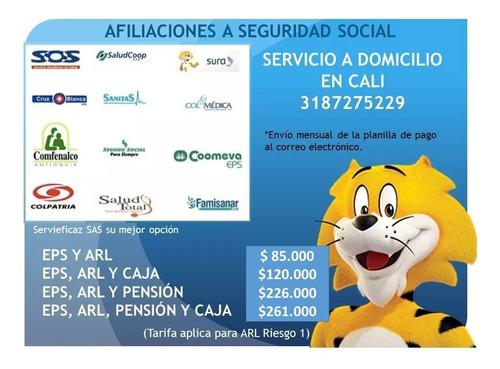 afiliaciones a seguridad social (eps, arl, caja y pensión)