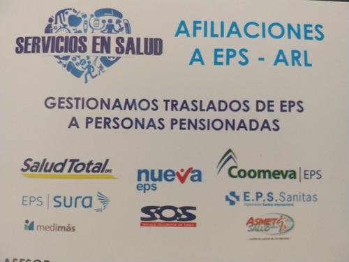 afiliaciones a seguridad social ( eps , arl, pensión y caja