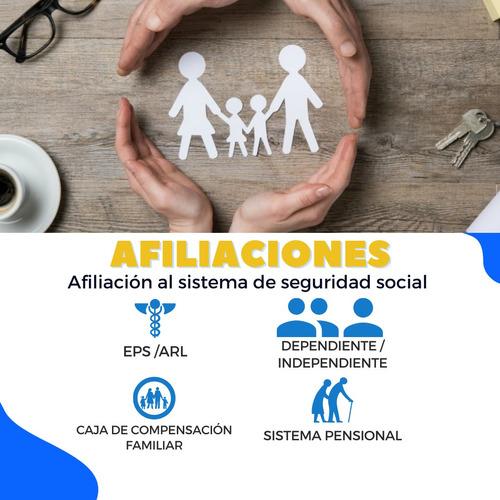 afiliaciones arl eps seguridad social