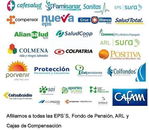 afiliaciones eps arl pension caja generacion planilla