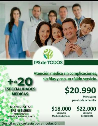 afiliaciones ips citas con especialistas medicina general y