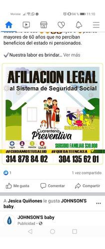 afiliamos seguridad social a nivel nacional