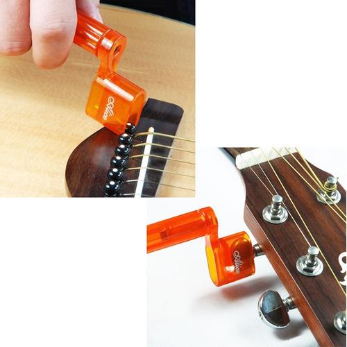afinador capotraste palhetas correia kit violão 6 pçs