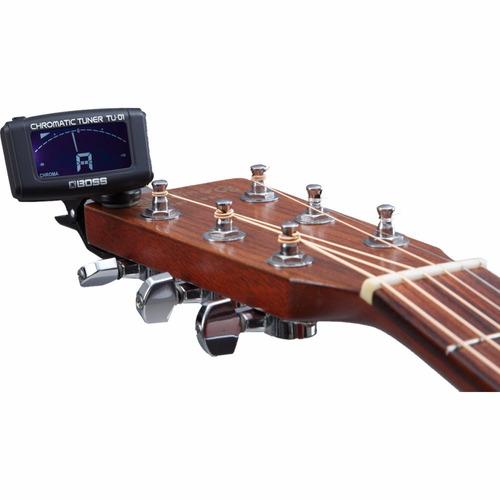 afinador clip cromático boss violao guitarra tu01 - kadu som