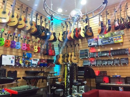 afinador cromatico clip c/ pila guitarra bajo violin la roca