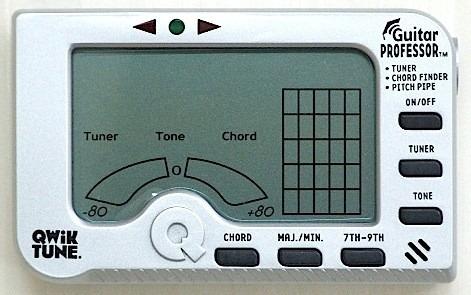 afinador cromatico profesor de acordes gp-2