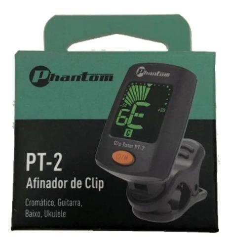 afinador de clip cromático pt-2 phantom
